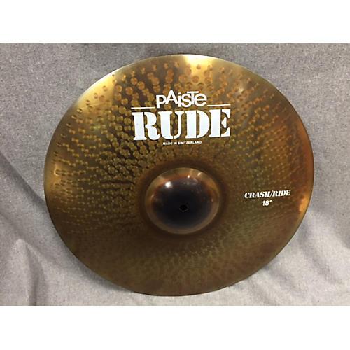 Paiste 18in Rude Classic Crash Ride Cymbal-thumbnail