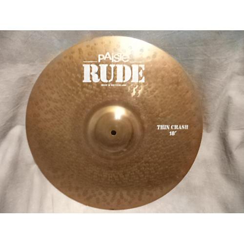 Paiste 18in Rude Thin Crash Cymbal