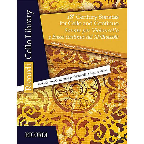 Ricordi 18th Century Sonatas for Cello and Continuo String Series