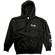1946 Zipper Hoodie Black Medium