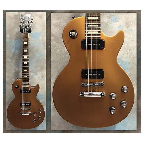 Gibson 1950S Tribute Les Paul Studio Gold Top Solid Body Electric Guitar-thumbnail