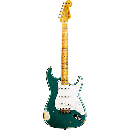 fender custom shop 1954 heavy relic stratocaster electric guitar sherwood green metallic. Black Bedroom Furniture Sets. Home Design Ideas