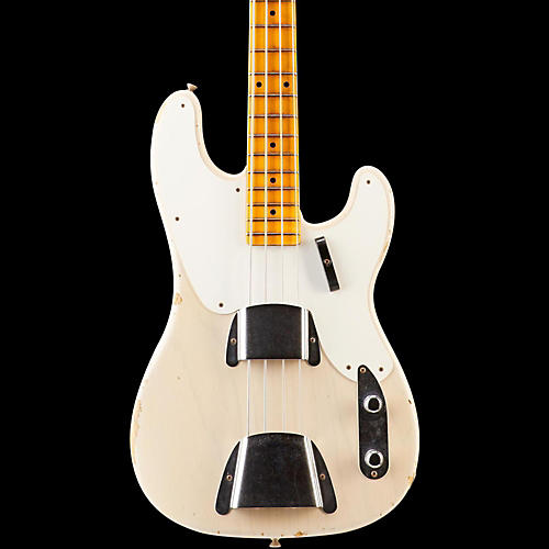 Fender Custom Shop 1955 Limited Edition Relic Precision Bass Electric Guitar Dirty White Blonde Maple