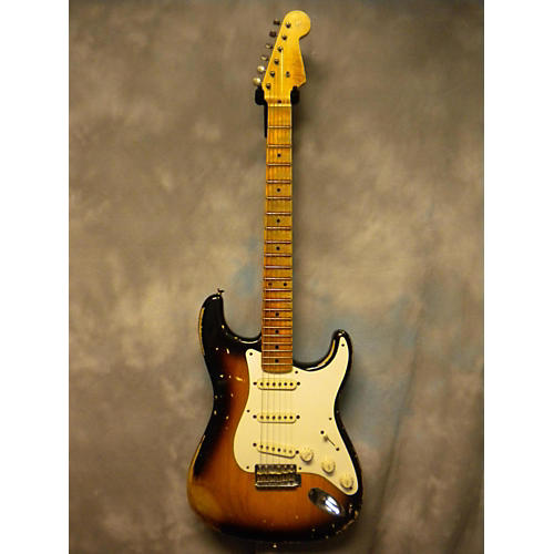 Fender 1955 Relic Stratocaster 2 Tone Sunburst Solid Body Electric Guitar