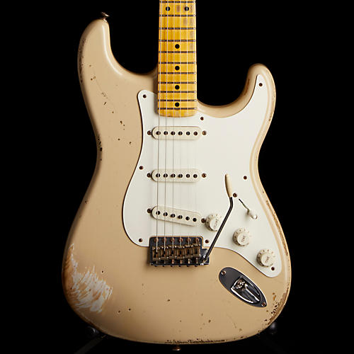 Fender Custom Shop 1956 Heavy Relic Stratocaster Electric Guitar Desert Sand Maple Fretboard