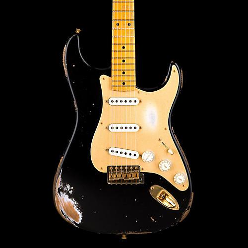 fender custom shop 1956 relic stratocaster electric guitar black guitar center. Black Bedroom Furniture Sets. Home Design Ideas
