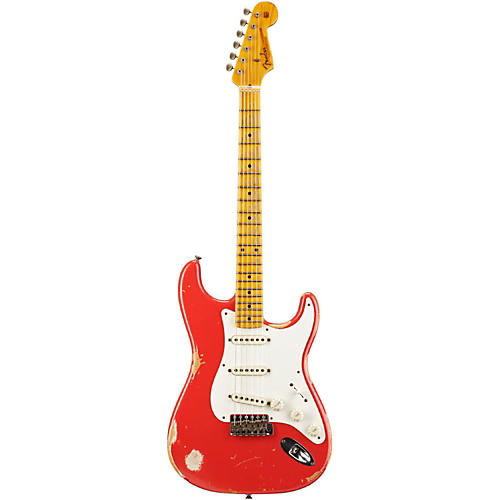 Fender Custom Shop 1956 Stratocaster Heavy Relic Electric Guitar Fiesta Red