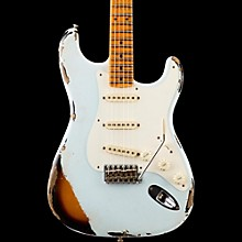 1957 Heavy Relic Stratocaster Electric Guitar Faded Sonic Blue over 2-Color Sunburst Maple