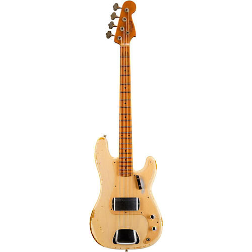 Fender Custom Shop 1957 Precision Bass Heavy Relic Electric Bass Guitar Vintage Blonde