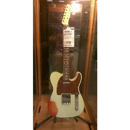 Fender 1959 Relic Telecaster Custom Solid Body Electric Guitar Vintage White over Cherry Sunburst