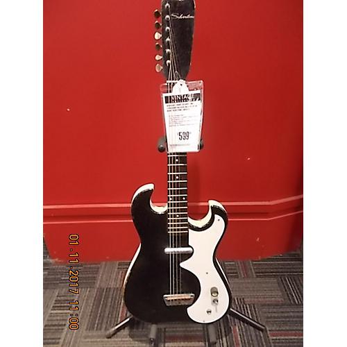 vintage silvertone 1960s 1448 amp in case solid body electric guitar black guitar center. Black Bedroom Furniture Sets. Home Design Ideas