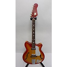 Kent 1960s Americana Red Burst 554 Hollow Body Electric Guitar