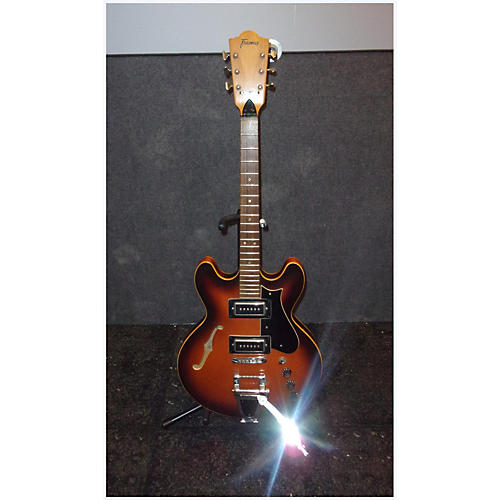 Framus 1960s Atlantic Sunburst Solid Body Electric Guitar-thumbnail