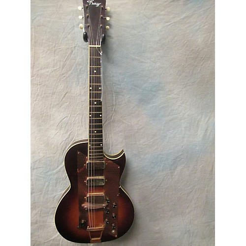 Kay 1960s LEAD 3 PICKUP SUNBURST Solid Body Electric Guitar-thumbnail