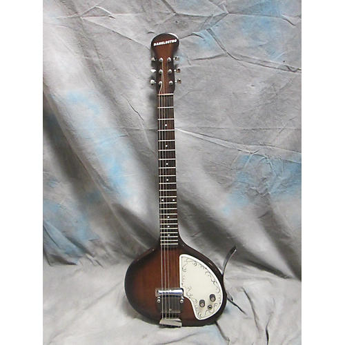 Danelectro 1960s Oval Sitar Solid Body Electric Guitar