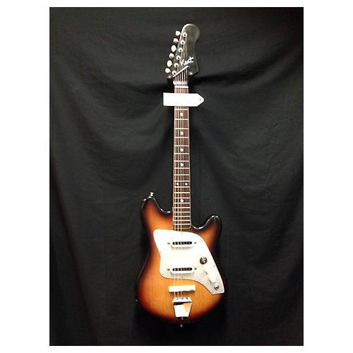 Kent 1960s Polaris II Sunburst Solid Body Electric Guitar Vintage Sunburst