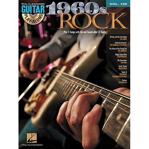 Hal Leonard 1960's Rock - Guitar Play-Along Volume 128 (Book/CD)-thumbnail