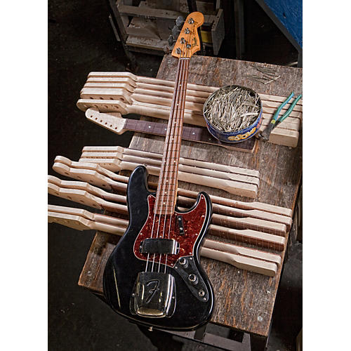 Fender Custom Shop 1961 Jazz Bass Closet Classic Electric Bass Guitar Black Rosewood Fretboard