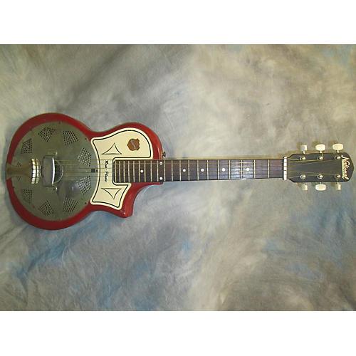 National 1961 National Reso-Phonic Maroon Acoustic Guitar-thumbnail