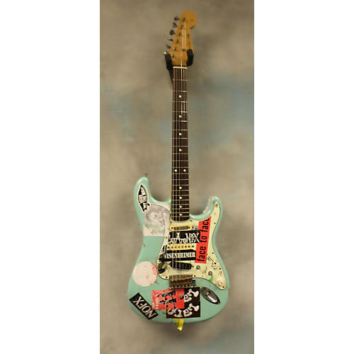 Fender 1962 Reissue Stratocaster MIJ Sonic Blue (Stickers, Heavily Modded) Solid Body Electric Guitar