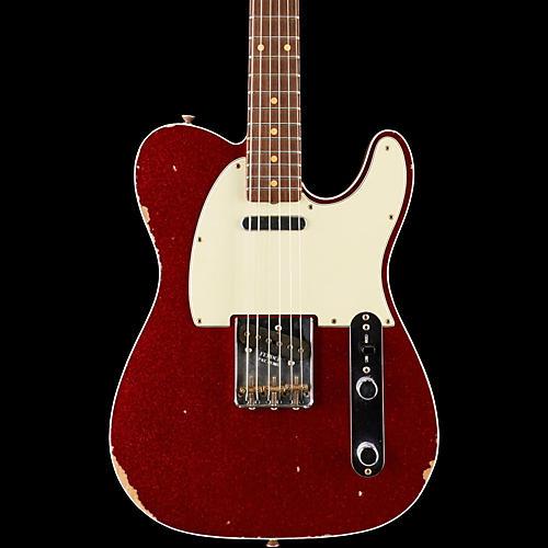Fender Custom Shop 1962 Relic Telecaster Rosewood Fingerboard Electric Guitar Red Sparkle