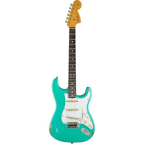 Fender Custom Shop 1967 Heavy Relic Stratocaster Rosewood Fingerboard Electric Guitar Sea Foam Green-thumbnail