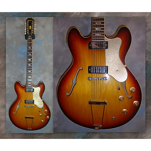 Epiphone 1967 Riviera 12str E360TD Sunburst Hollow Body Electric Guitar