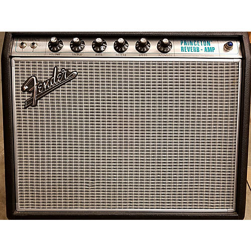 Fender 1968 Custom Princeton Reverb 12W 1x10 Tube Guitar Combo Amp-thumbnail