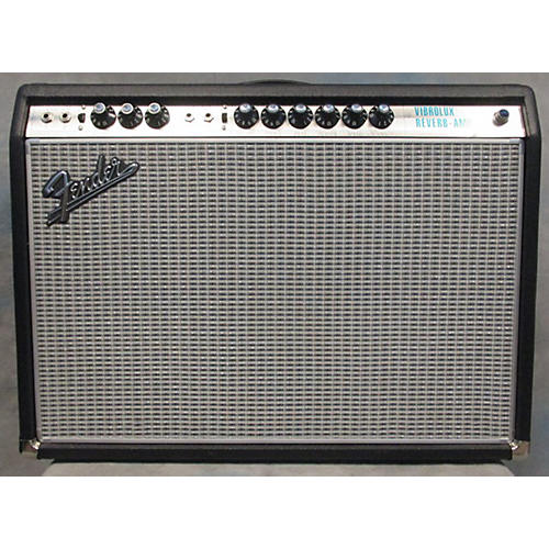 Fender  1968 Custom Vibrolux Reverb Silverface Tube Guitar Combo Amp