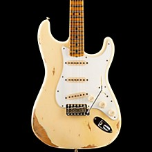 Fender Custom Shop 1969 Stratocaster Heavy Relic Electric Guitar with Maple Fretboard Aged Vintage White