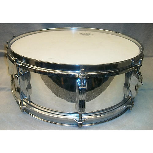 Ludwig 1970s 5.5X14 PIONEER CHROME WRAP Drum  10-thumbnail