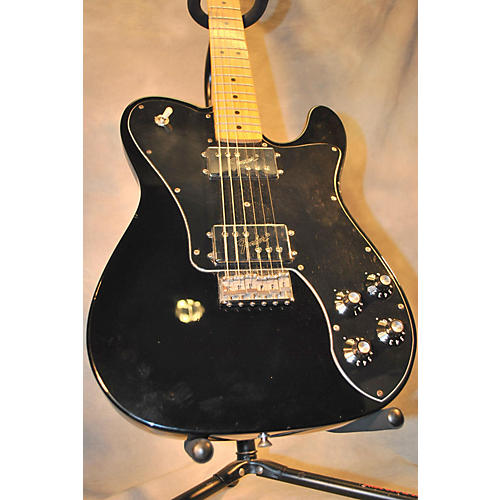 Fender 1972 Reissue Telecaster Deluxe Black Solid Body Electric Guitar Black