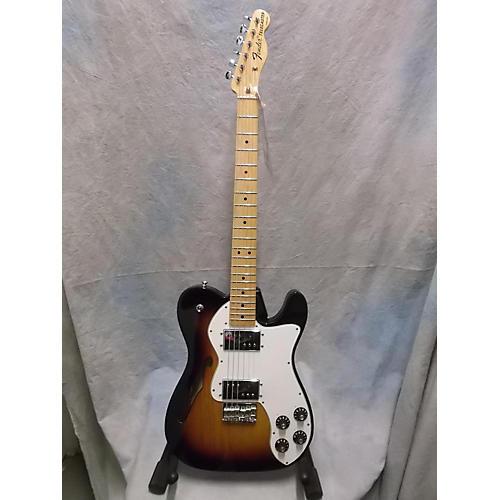 Fender 1972 Reissue Thinline Telecaster 3 Color Sunburst Hollow Body Electric Guitar-thumbnail