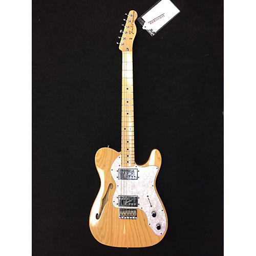 Fender 1972 Reissue Thinline Telecaster Hollow Body Electric Guitar Natural