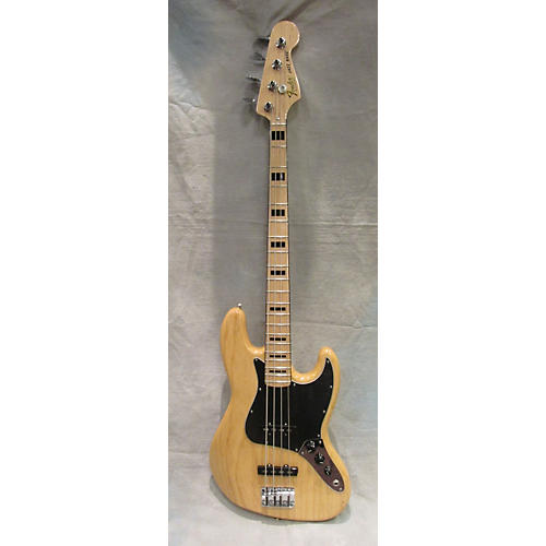Fender 1975 Reissue Jazz Bass Natural Electric Bass Guitar-thumbnail