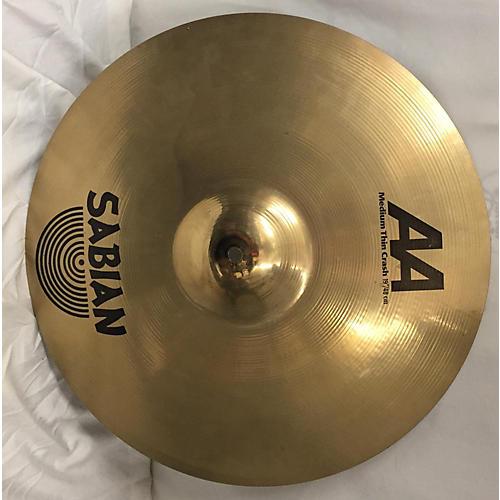 Sabian 19in AA Medium Thin Crash Cymbal-thumbnail