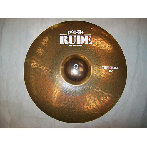 Paiste 19in Rude Thin Crash Cymbal-thumbnail