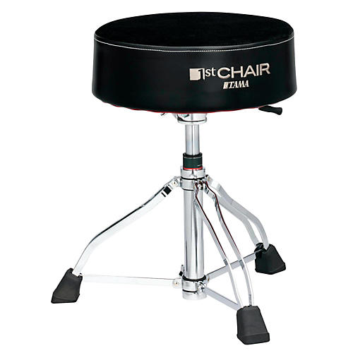 Tama 1st Chair Round Rider XL Drum Throne Hydraulix Cloth Top Black-thumbnail