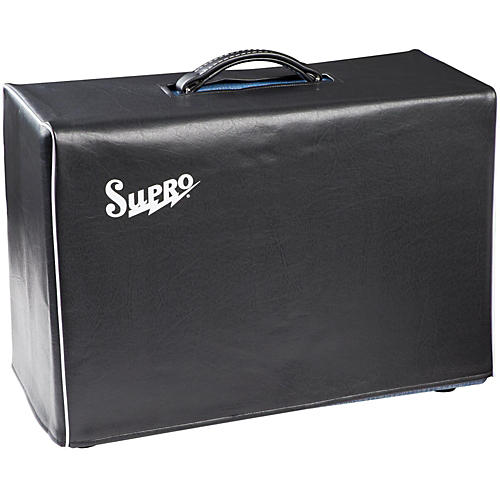 Supro 1x12 and 2x10 Black Vinyl Amp Cover with Logo-thumbnail