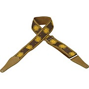 "Levy's 2 1/2"" Woven Golden Sun Guitar Strap"
