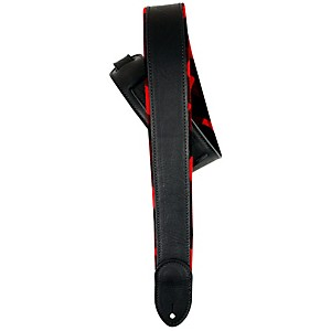 LM Products 2 inch Black Ballglove/Flannel Reversible Guitar Strap by LM Products