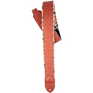 LM Products 2 inch Brown Ballglove/Flannel Reversible Guitar Strap by LM Products