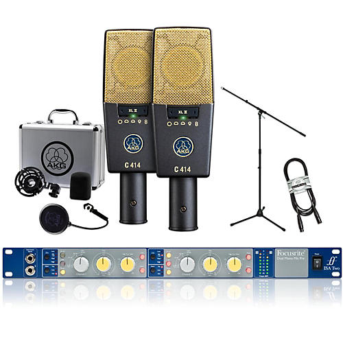 AKG 2 C414 XL II with Focusrite IsaTwo Package