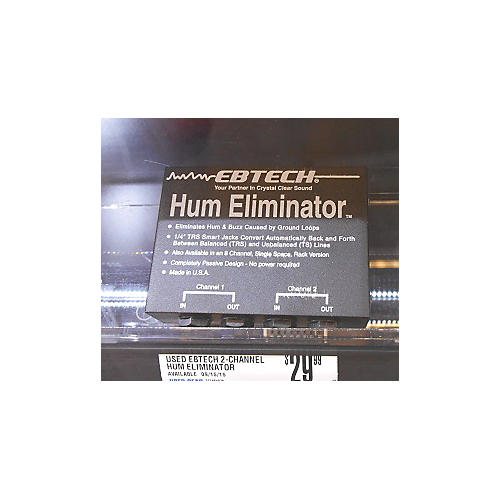 Ebtech 2-Channel Hum Eliminator Effect Pedal-thumbnail
