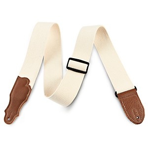 Franklin Strap 2 inch Natural Cotton Guitar Strap with Leather Ends