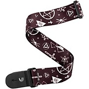"D'Addario Planet Waves 2"" Polyester Guitar Strap, Mixed Symbols, by D'Addario"