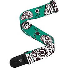 "D'Addario Planet Waves 2"" Polyester Guitar Strap, Sugar Skulls, by D'Addario"