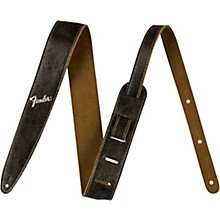 Fender 2 in. Distressed Leather Straps