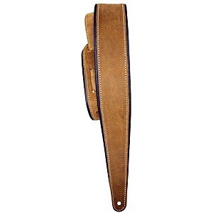 LM Products 2.5 inch Distressed Suede Guitar Strap with Rolled Edge