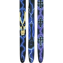 "Perri's 2.5"" Leather Full Airbrushed Guitar Strap"